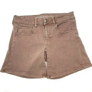 American Eagle Outfitters Womens Midi Shorts Denim
